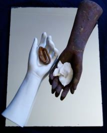 Here We Are, porcelain, stoneware and rust