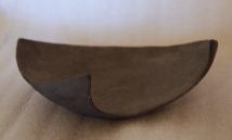Unfurling, stoneware and slip